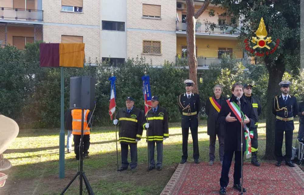 Roma dedica un giardino ai caduti del Corpo Nazionale dei Vigili del Fuoco