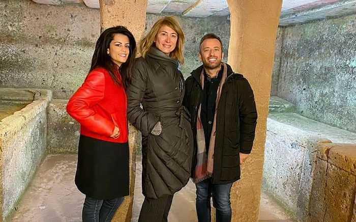 """Cerveteri, Luxuria in visita alla Necropoli. Battafarano: """"Giornata meravigliosa"""""""