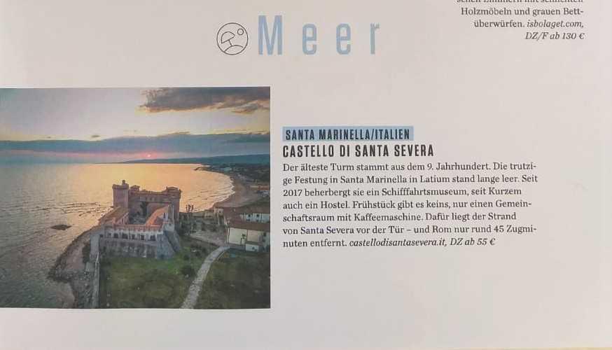 Il Castello di Santa Severa sulle pagine della stampa tedesca