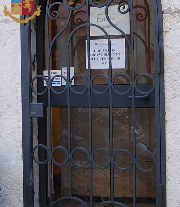 Chiuso dalla Polizia un locale di piazza Leandra a Civitavecchia