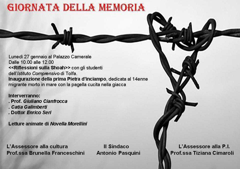 Allumiere per la Giornata della Memoria, con la posa di una Pietra d'Inciampo