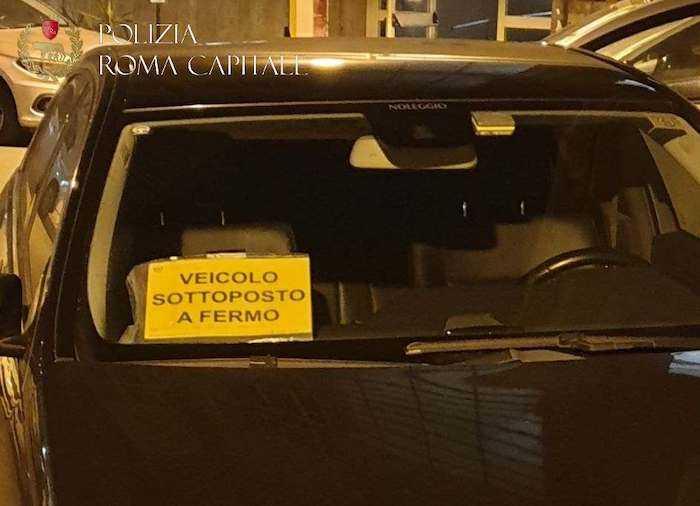 Falso Ncc a Roma, sequestrato il veicolo dalla Polizia locale