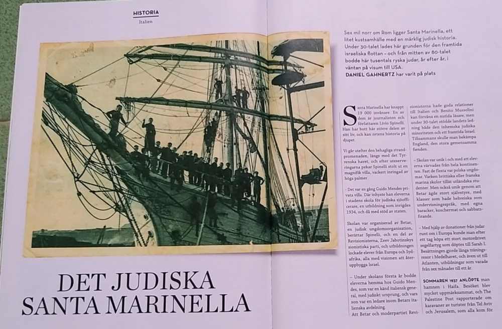 Santa Marinella, la tradizione ebraica finisce su una rivista svedese