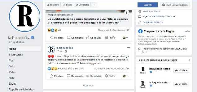 Allarme bomba alla redazione romana di Repubblica