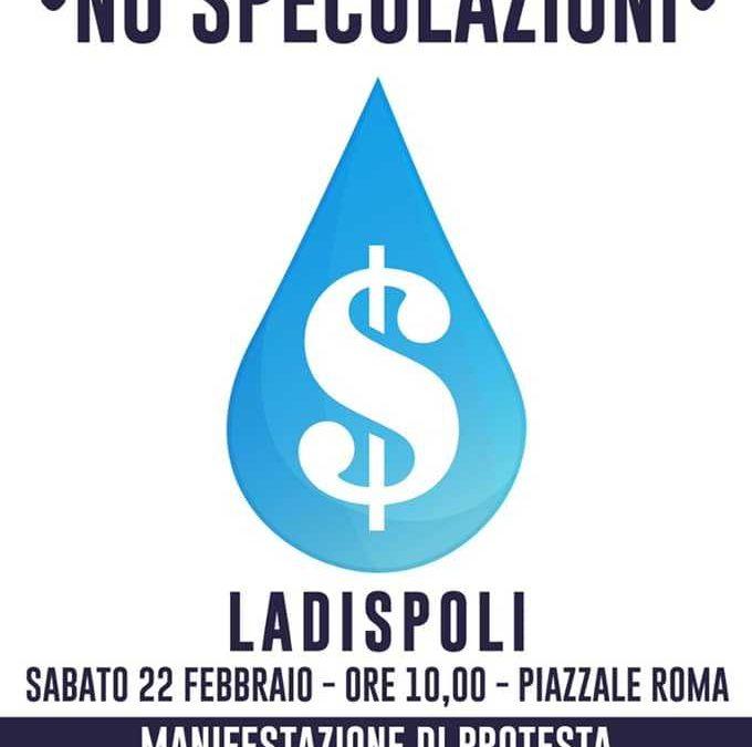 Casapound Ladispoli alla manifestazione di sabato per l'acqua