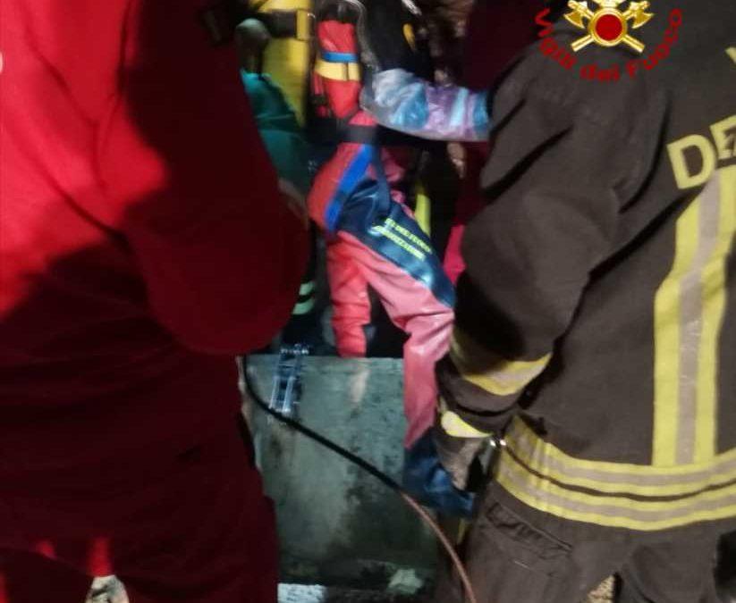Flaminio, cadavere in un pozzo recuperato dai pompieri