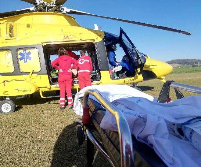 Seconda eliambulanza in pochi minuti: a Santa Severa una 60enne colpita da ictus