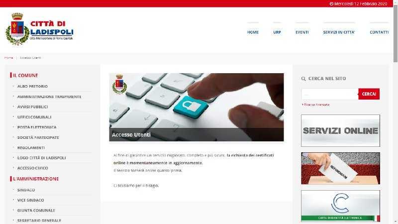Ladispoli, il Comune paga in anticipo per un sito istituzionale che non funziona