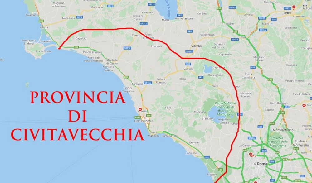 Nata la provincia di Civitavecchia