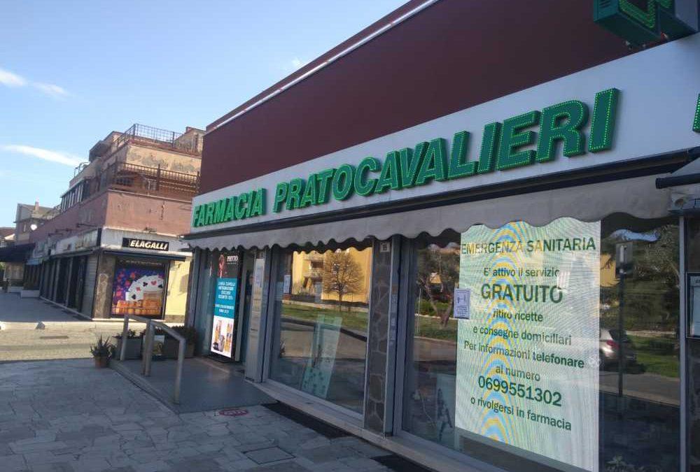 Cerveteri, servizio domiciliare gratis della farmacia Pratocavalieri