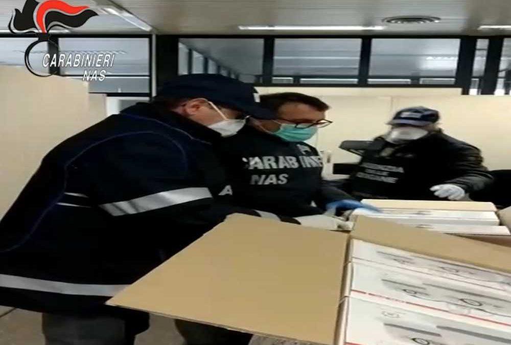 Maxisequestro di sanitari e farmaci operato dai Nas