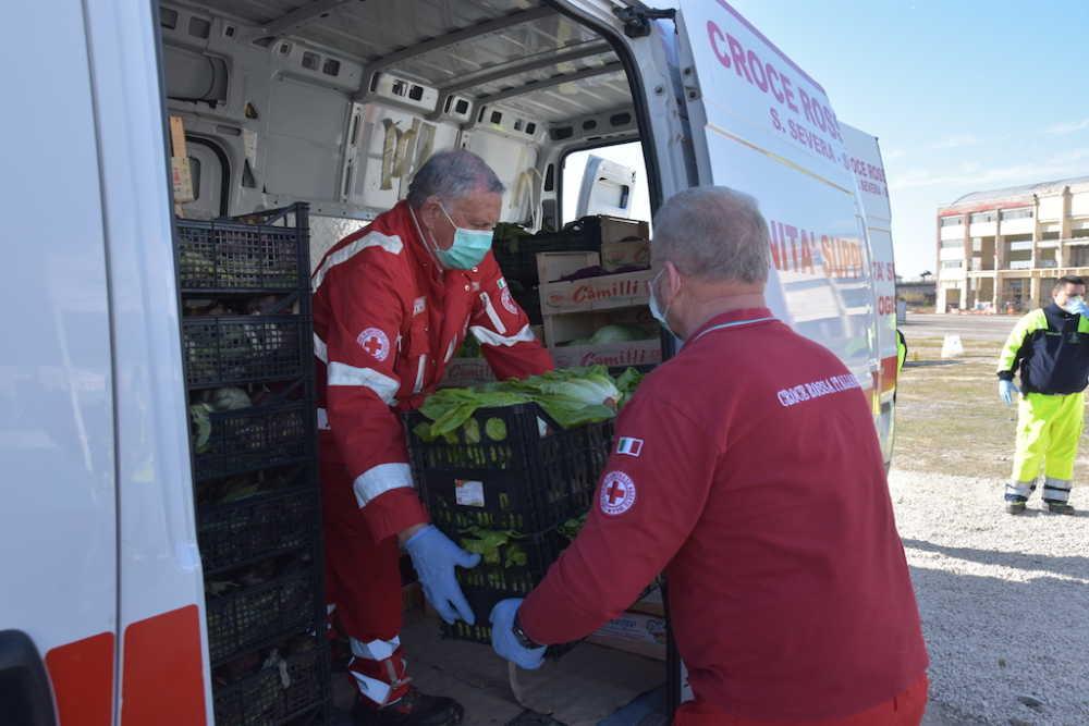 """Civitavecchia, """"soccorso alimentare"""" della Coldiretti: ortofrutta consegnata alla Croce Rossa per città e comprensorio"""